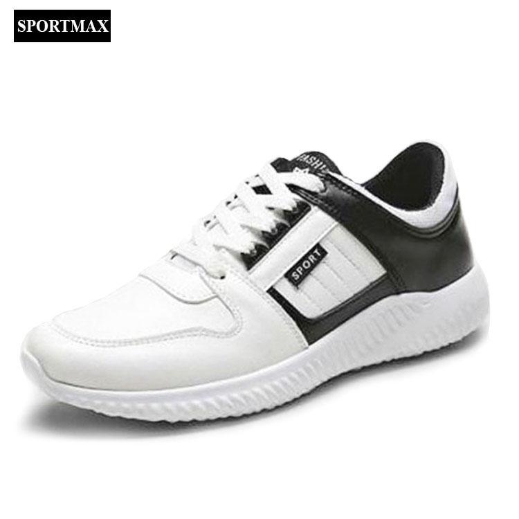 Ôn Tập Giay Sneaker Thể Thao Nam Sportmax Smg7201Wb Trắng Đen Sportmax