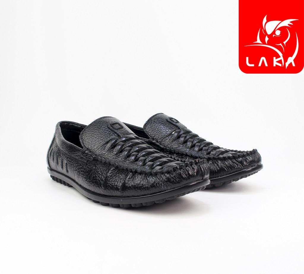 Hình ảnh Giày lười giày mọi nam da bò thật LAKA 110