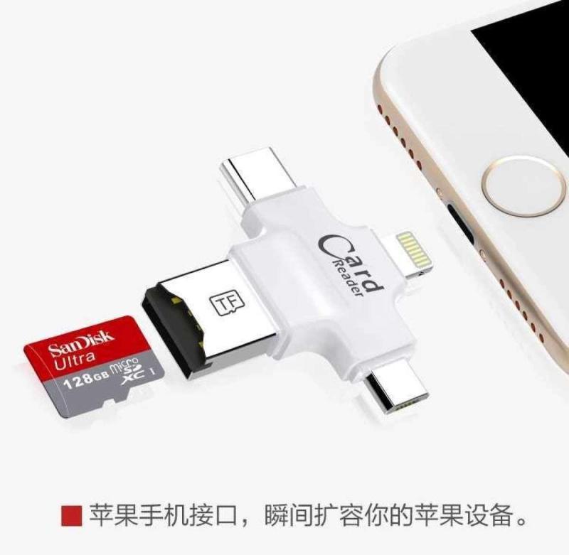 Bảng giá Đầu đọc thẻ 4 trong 1 FAT32 exFAT chân USB, Micro Usb, Type C và Lightning Phong Vũ