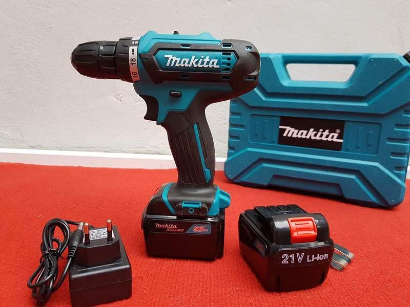 Hình ảnh Máy khoan pin Makita 21V, bắn vít, khoan sắt, gỗ, bê tông-Thái lan,