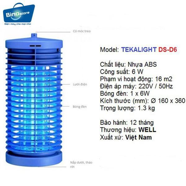 Đèn bắt muỗi Đại Sinh DS - D6 (Xanh)