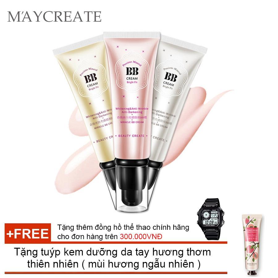 Kem Che Khuyết Điểm Maycreate Bb Cream ( Oliver ) + Tặng tuýp kem dưỡng da tay hương thơm  thiên nhiên ( mùi hương ngẫu nhiên )