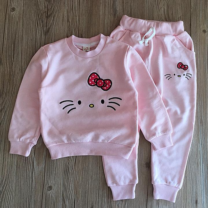 Giá bán Bộ quần mèo kity dễ thương cho bé 1-5 tuổi