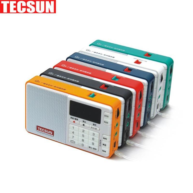 Tecsun Q3 FM Stereo Với Ghi Đầu Ghi Thẻ TF MP3 Người Chơi Loa Đài FM