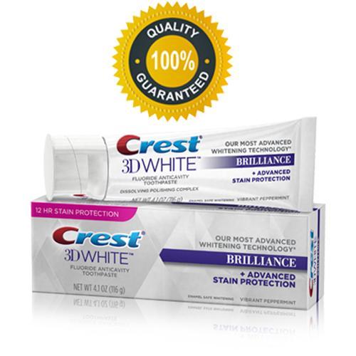 Kem đánh răng Crest 3D White Brilliance 116g cao cấp