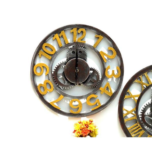 Nơi bán Đồng hồ treo tường phong cách cổ 03 Bánh Răng