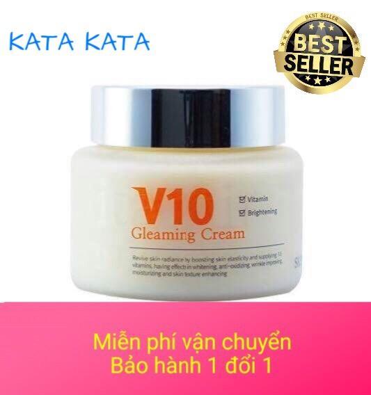 Mua Kem Dưỡng Trắng Sang Da Mặt Cao Cấp V10 Gleaming Cream Skinaz Han Quốc 100Ml Skinaz Rẻ