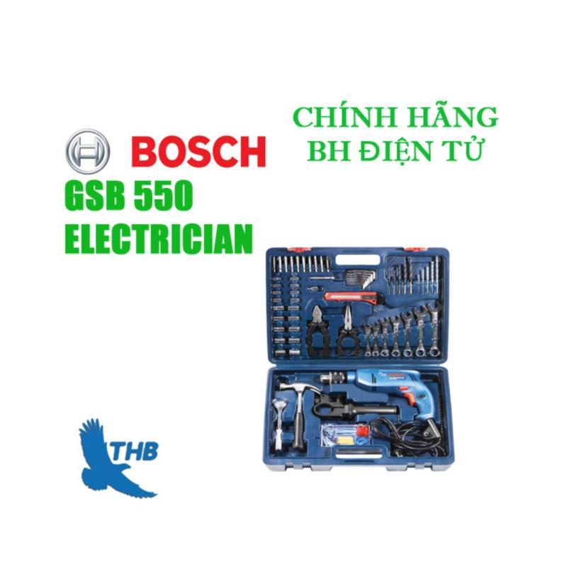 Bộ máy khoan động lực Bosch GSB 550 Electrician