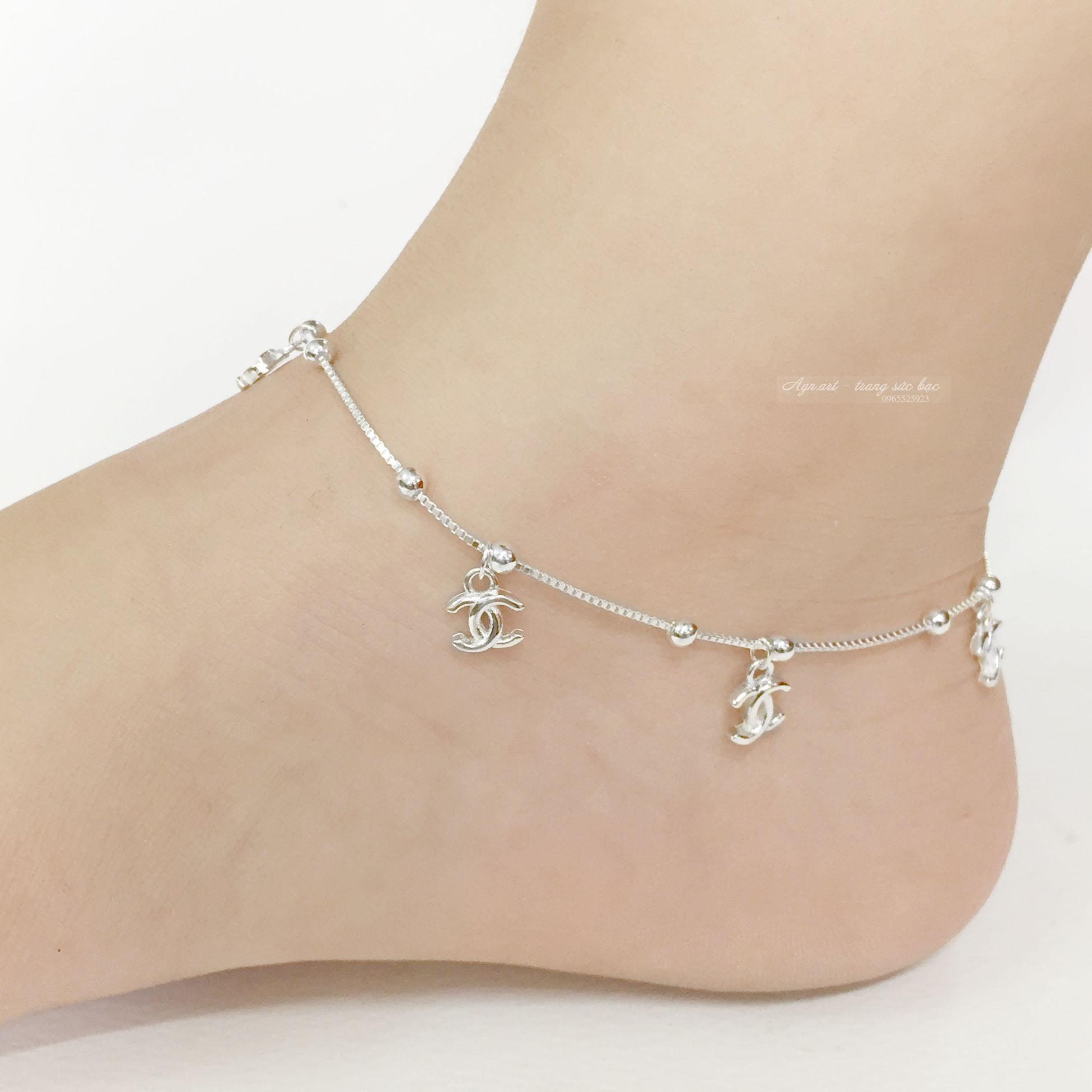 Lắc chân nữ bạc nữ