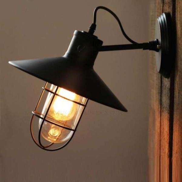Đèn tường rọ thủy tinh - đèn vách TECH cổ điển tăng kèm bóng LED Edision trang trí đẹp mắt