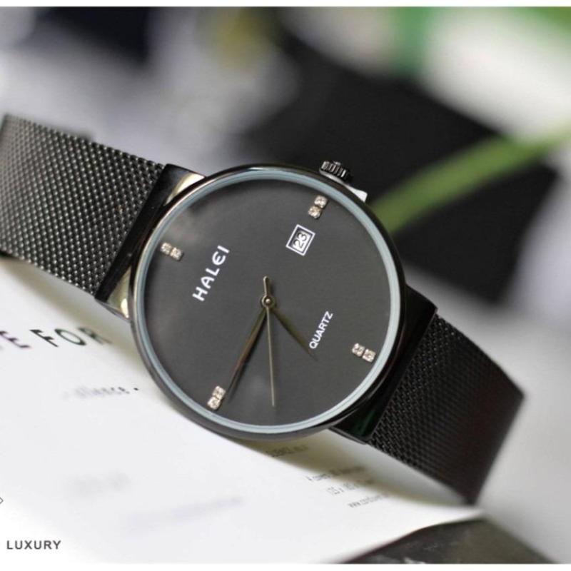 Đồng hồ Nữ Halei, dây kim loại dạng nhuyễn cực hót