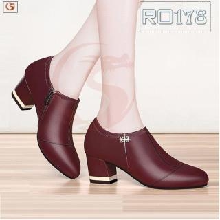 Giày boot bốt nữ đẹp hàng hiệu Rosata- gót viền RO178 thumbnail