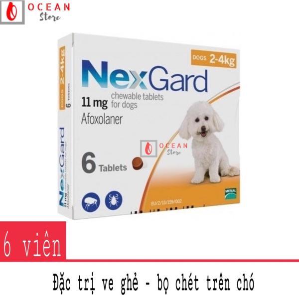 Thuốc trị ve ghẻ, bọ chét trên chó - Hộp 6 viên Nexgard cho chó 2-4kg (boxes 6 tablets 2-4kg)