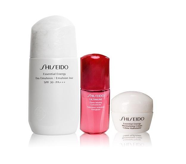 Hình ảnh Bộ sản phẩm sữa dưỡng da ban ngày Shiseido Essential Energy 75ml + Tinh chất truyền năng lượng Ultimune 10ml + Kem dưỡng Shiseido Essential Energy 10ml