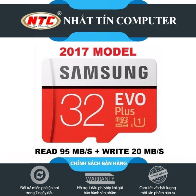 Thẻ nhớ MicroSDHC Samsung EVO Plus 32GB 95MB/s (New 2017) - Nhất Tín Computer