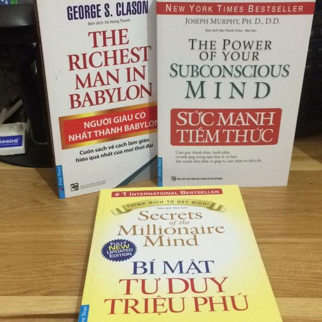 Mua Sách - combo 3 cuốn sách sức mạnh tiềm thức, bí mật tư duy triệu phú và người giàu có nhất thành babylon