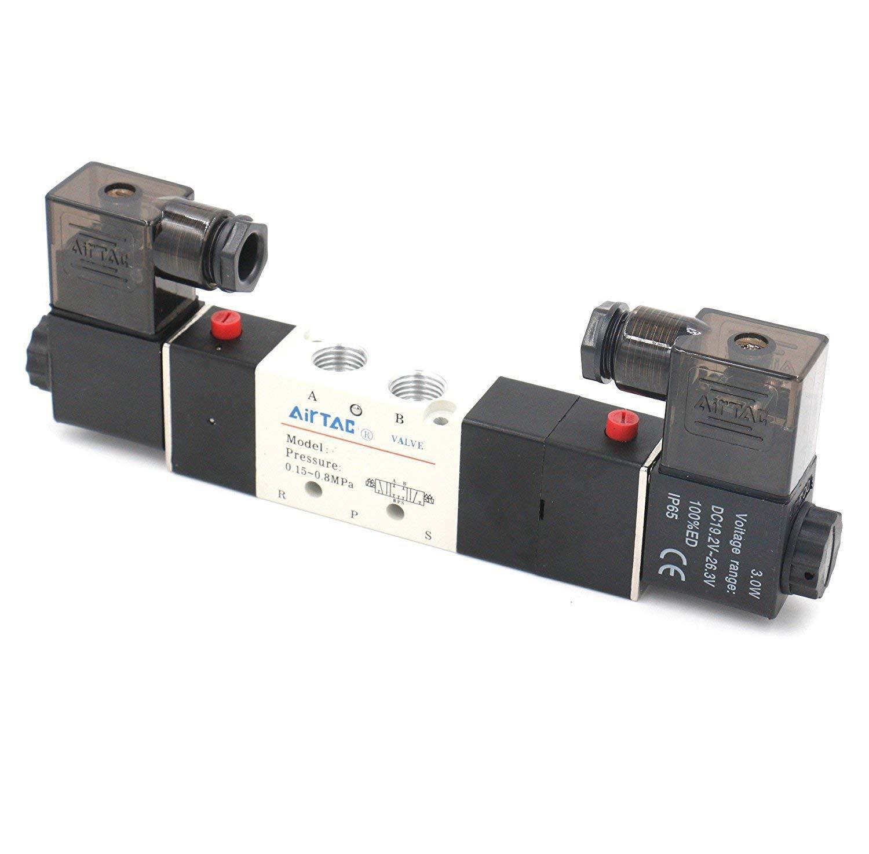 Van điện từ khí nén 4V220-08 G1/4 điện áp AC220V