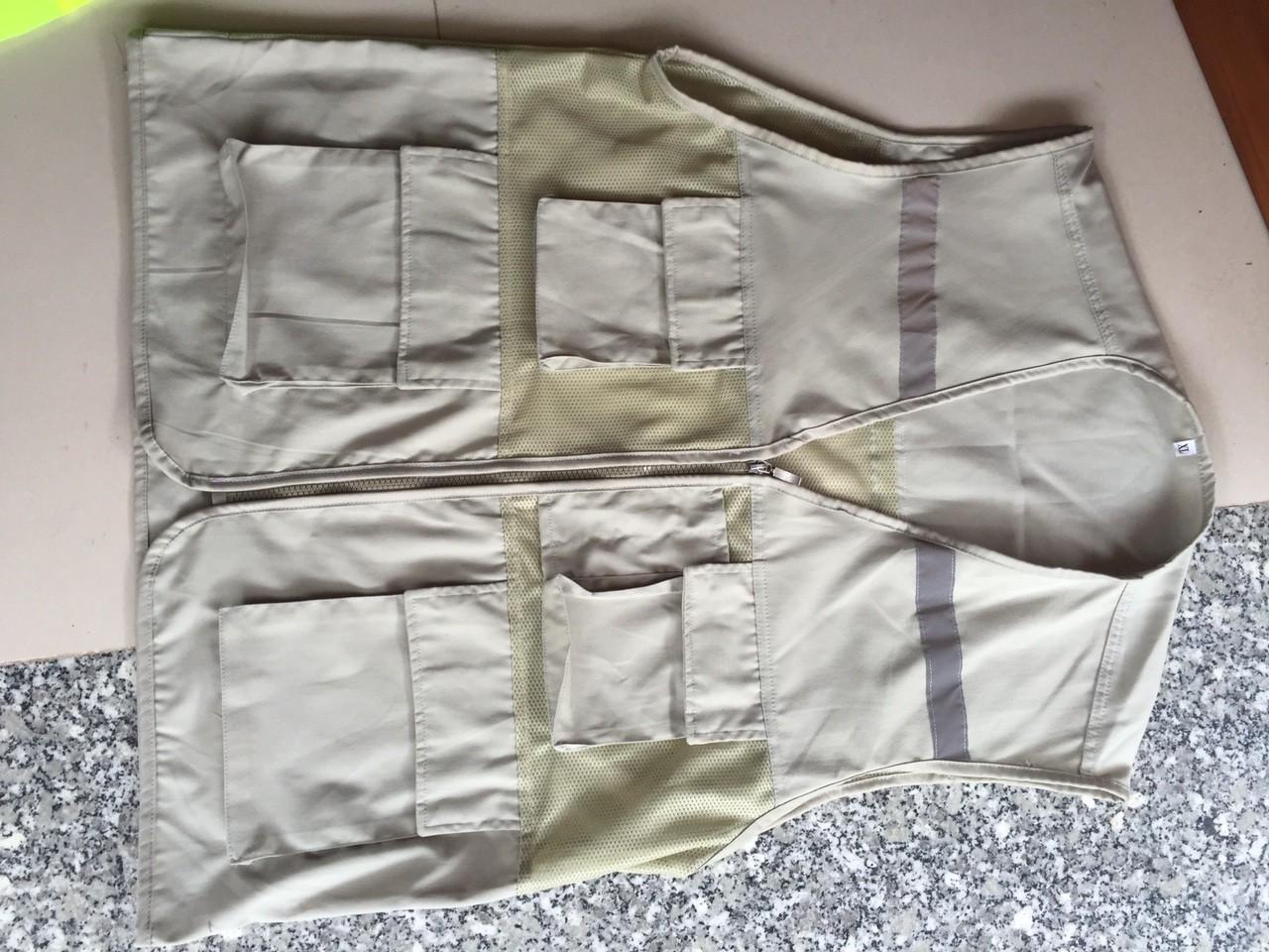 Áo ghile 4 túi hộp phản quang size XXL