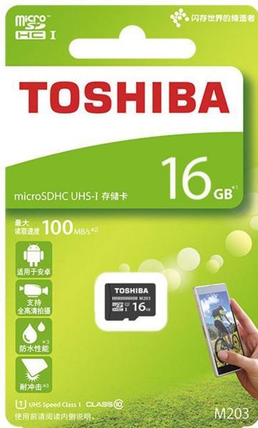 Thẻ nhớ Toshiba MicroSDHC 16gb 100mb