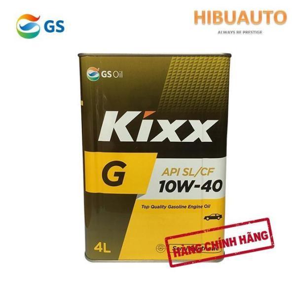 Dầu động cơ xăng cao cấp bán tổng hợp Kixx G 10W-40 Thùng thiếc 4 lít  Công nghê Triple Double