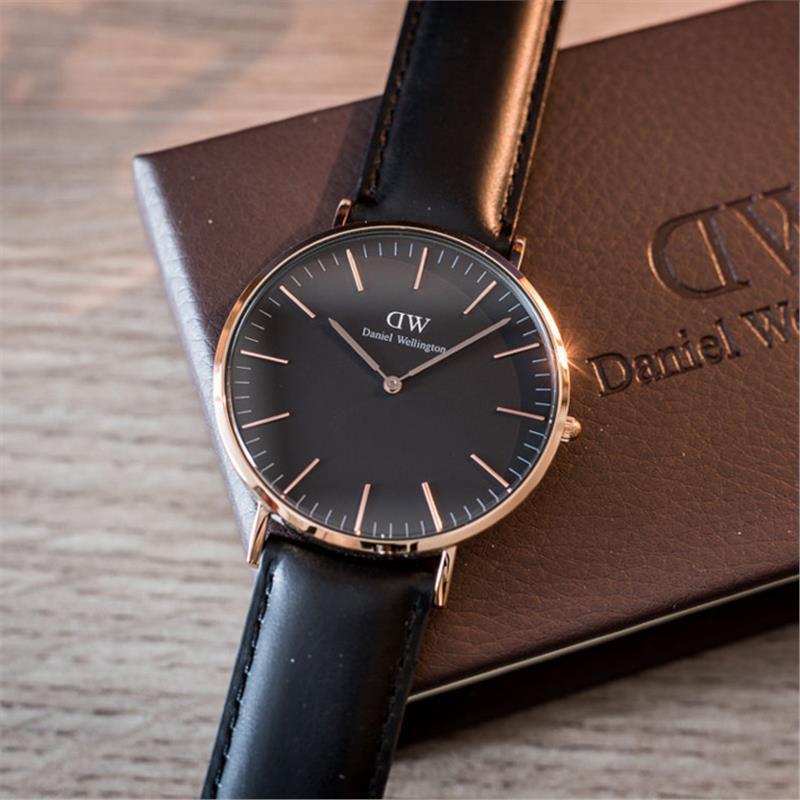 Đồng Hồ Nữ Daniel WeIlington Classic Black Sheffield - 36mm - màu Vàng (Rose Gold) DW00100127