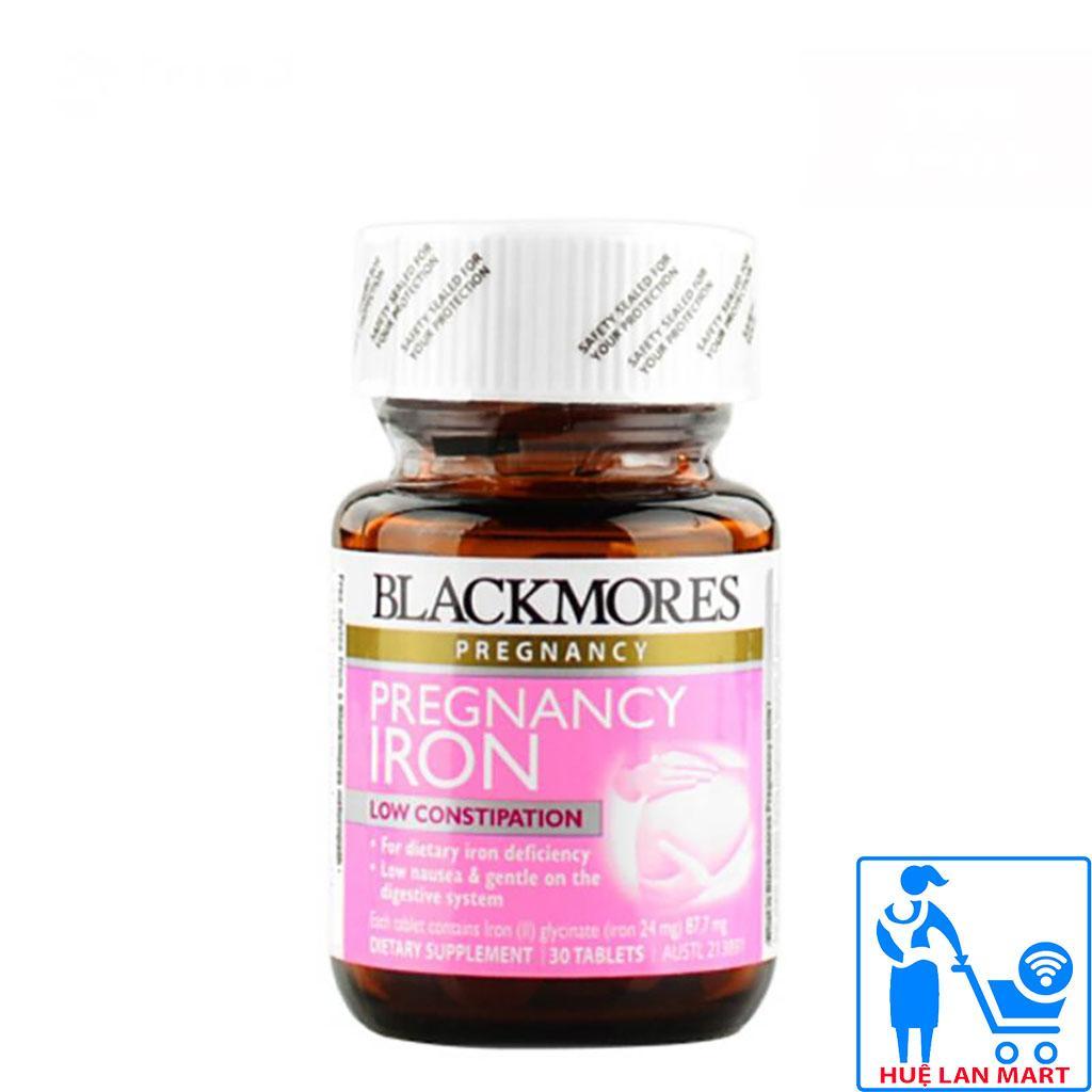 Bổ Sung Sắt Cho Bà Bầu Blackmores Pregnancy Iron Lọ 30 Viên nhập khẩu