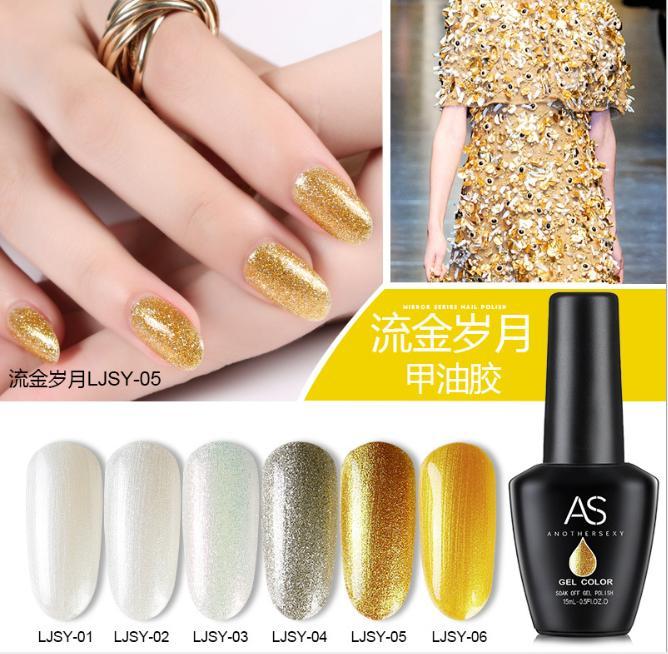 Set sơn gel AS nhũ vàng bạc 6 màu tốt nhất