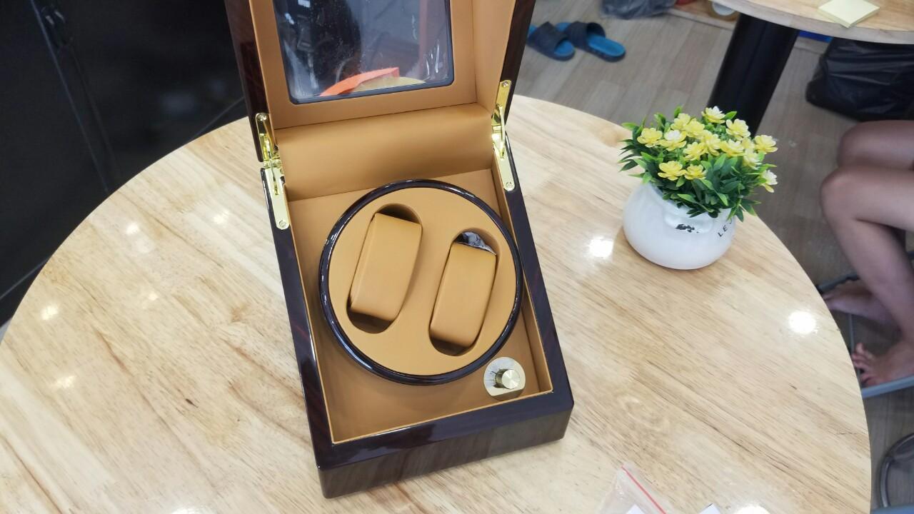 Nơi bán Hộp đựng xoay 2 đồng hồ Automatic, bằng gỗ, hộp đựng đồng hồ xoay bằng gỗ, hộp đựng gỗ, hộp đồng hồ 2018
