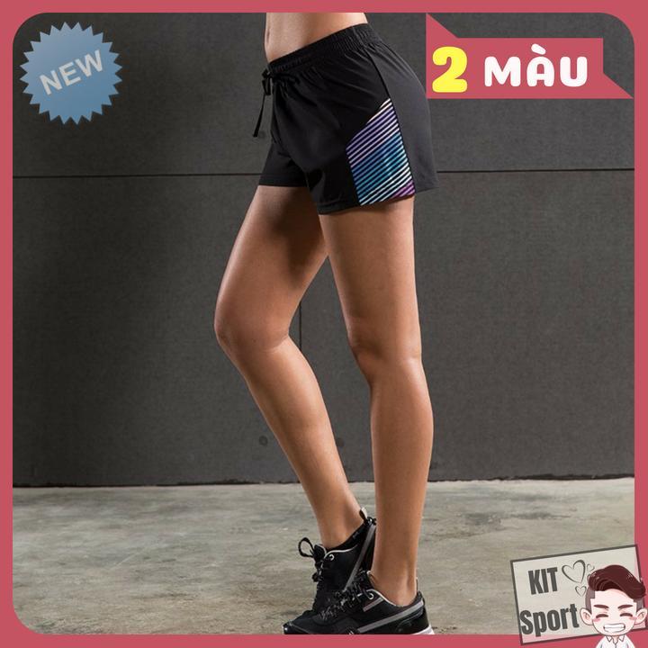 Quần short đùi thể thao nữ Gecko Vansy - Cửa hàng phân phối KIT Sport - Hàng nội địa Trung(Women Short, đồ tập quần áo gym,mẫu ngắn, thể dục,thể hình, Yoga, Aerobic,Zumba Fitness)