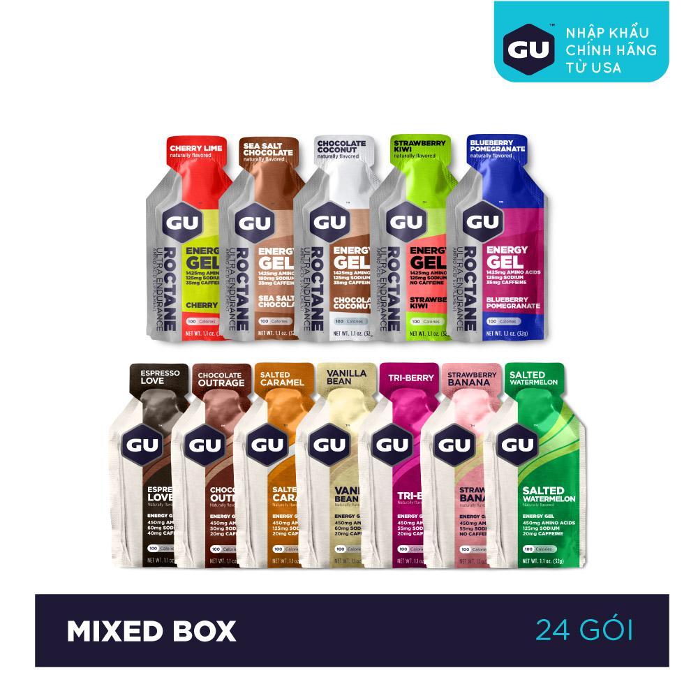 GEL NĂNG LƯỢNG GU ENERGY - MIXED BOX - HỘP 24 GÓI (12 VỊ)