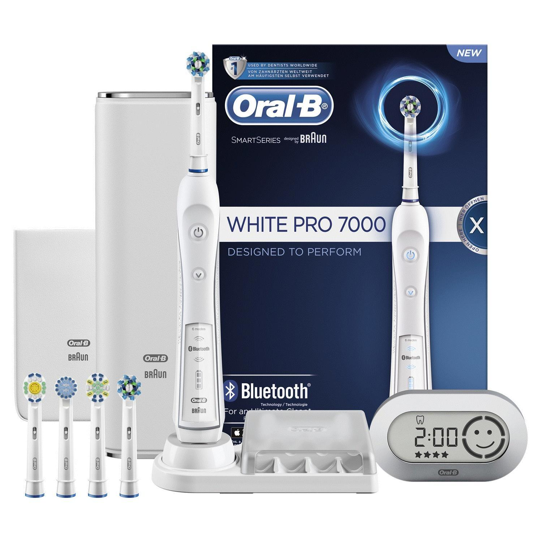 Bán Ban Chải Điện Đanh Răng Tự Động Oral B Braun Pro 7000 White Trắng Dong Cao Cấp Nhất Của Oral B Oral B