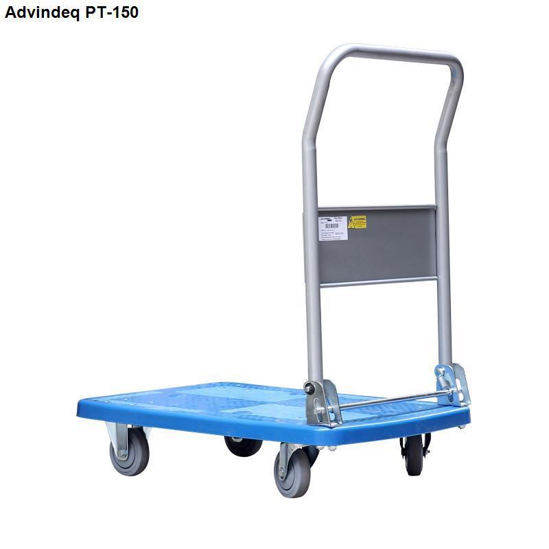 Xe đẩy hàng ADVINDEQ PT-150 sàn nhựa cao cấp chịu lực, tải trọng chở 170kg tay gấp gọn