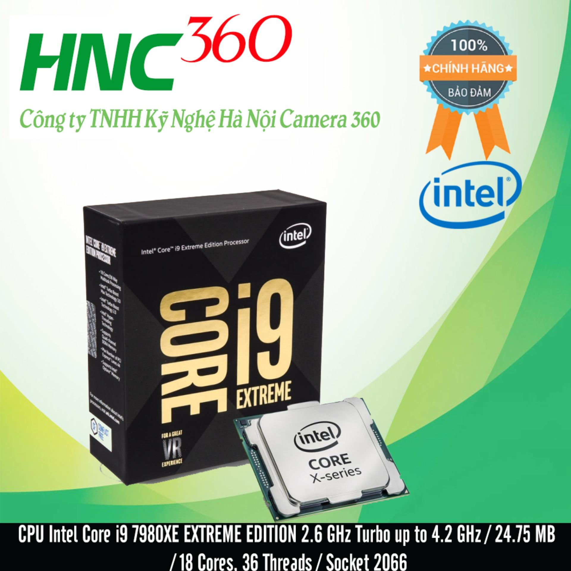 Hình ảnh CPU Intel Core i9 7980XE EXTREME EDITION 2.6 GHz Turbo up to 4.2 GHz / 24.75 MB / 18 Cores, 36 Threads / Socket 2066