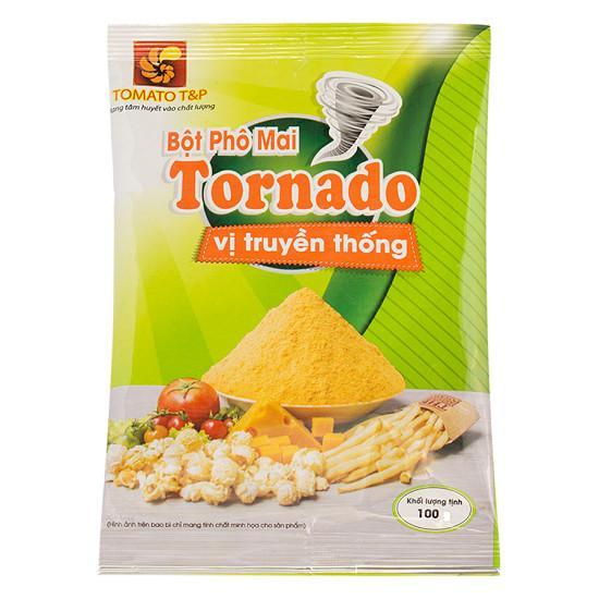 Bột phô mai Tornado truyền thống 100g vị phô mai mặn ngọt, nguyên liệu và công nghệ Hàn Quốc