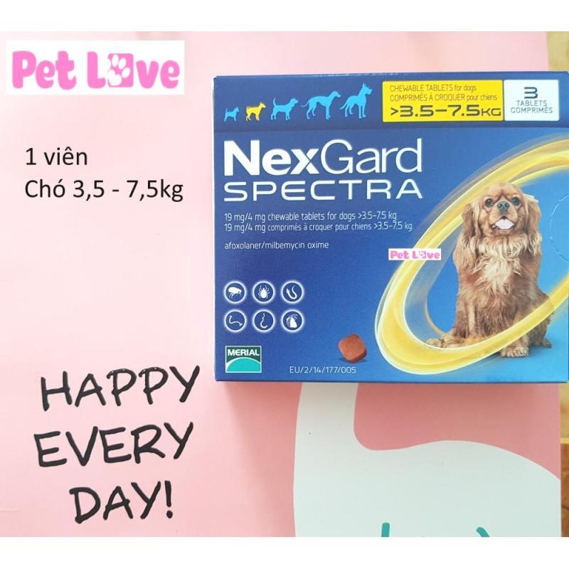 1 viên NexGard Spectra trị giun, ghẻ, viêm da, ve rận  (chó 3,5 - 7,5kg)