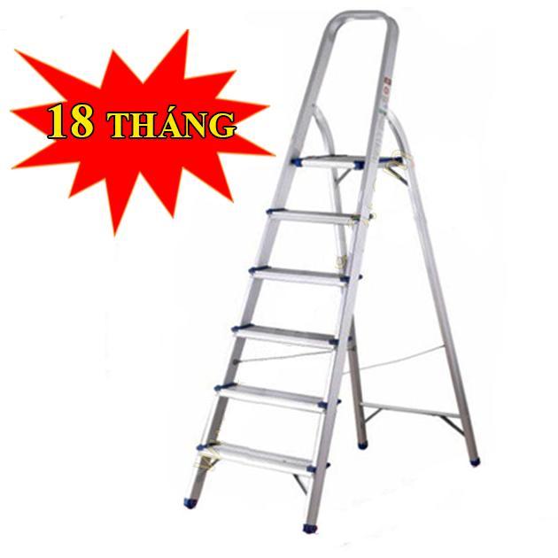 Thang nhôm tay vịn 6 bậc 1.2m Nikita AL06