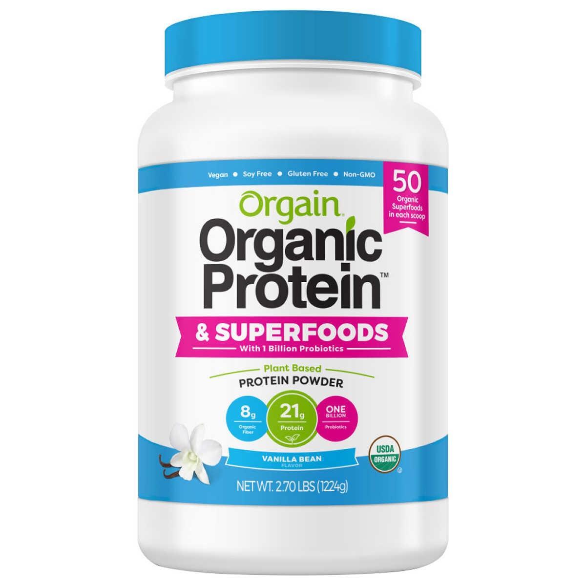 Bột đạm protein thực vật hữu cơ siêu thực phẩm Orgain 1224g