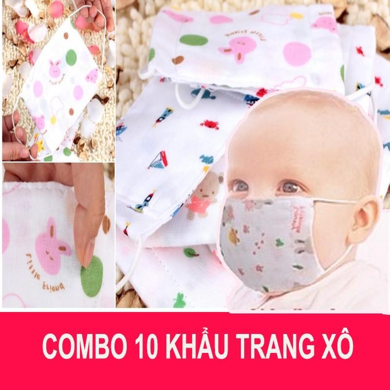 Combo 10 chiếc Khẩu trang xô cho bé