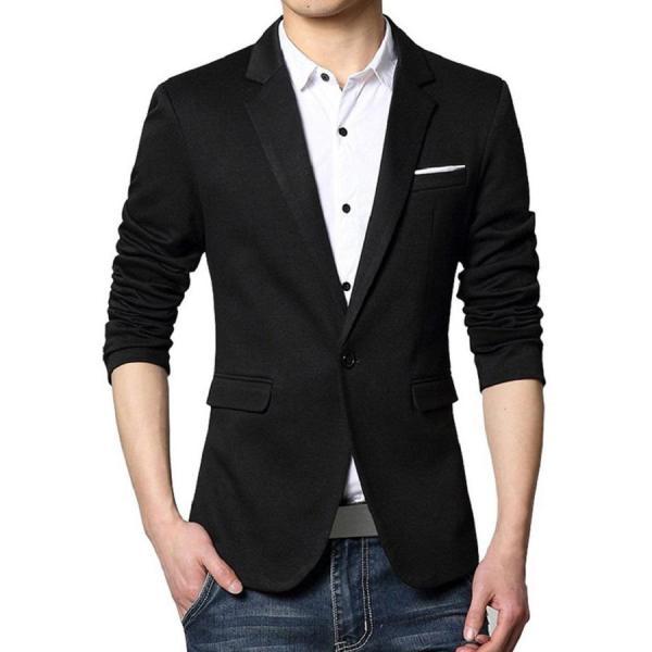 Áo vest thời trang nam Kaki Thái màu đen viền trắng túi LZD043PC