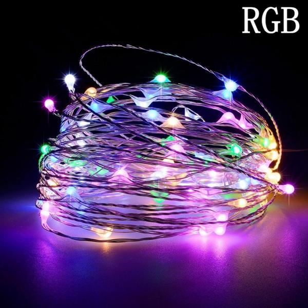 Đèn Led cước Fairy Light RGB trang trí 10m 220V