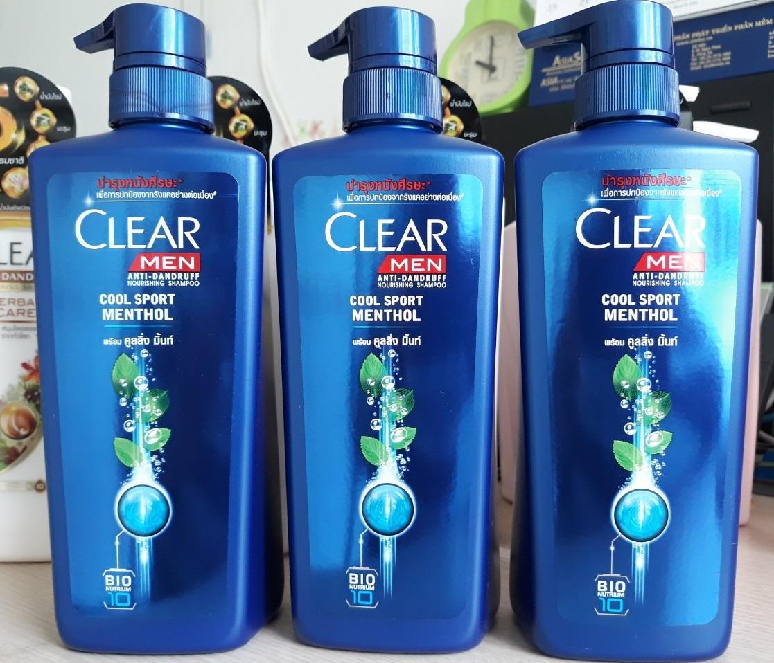 2 CHAI DẦU GỘI ĐẦU CLEAR MEN THÁI LAN 450 ML