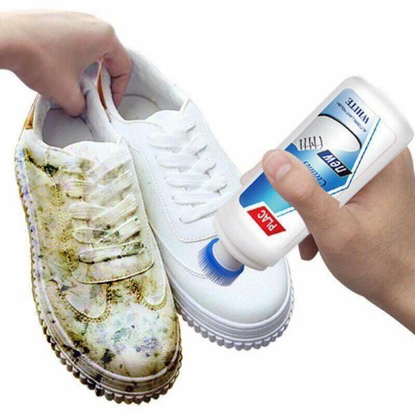 Bộ 2 chai dung dịch tẩy trắng giày, túi xách Plac Cream White (75ml)