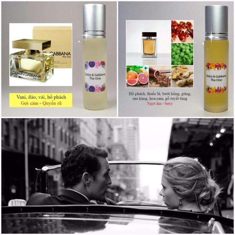 [COMBO bộ đôi D.&G. thanh lịch dạng lăn] Tinh dầu nước hoa Pháp The one by DG nhập khẩu