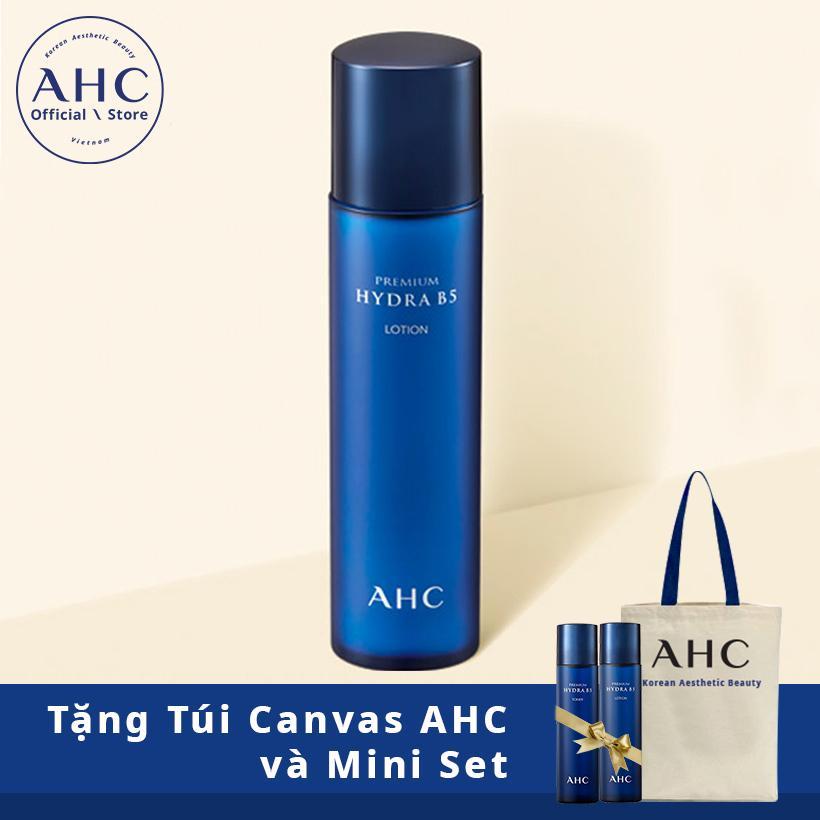 Kem dưỡng ẩm,cấp nước,chống nhăn AHC Preminum Hydra B5 Lotion 120ml + Túi Canvas + Mini set