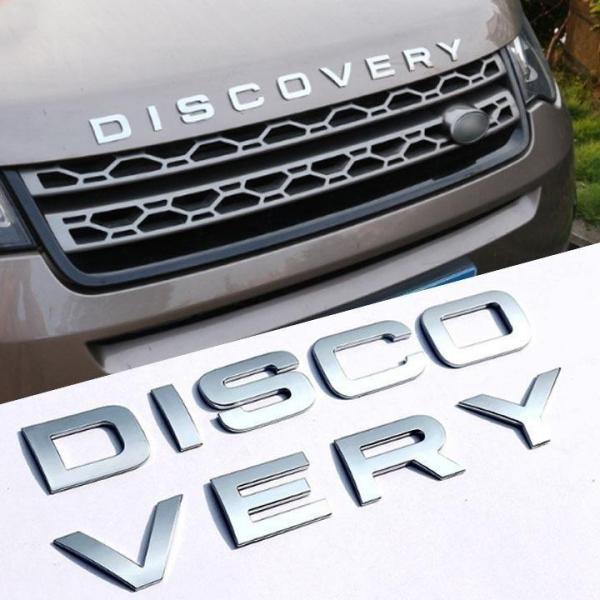 Chữ DISCOVERY nổi chrome dán ô tô - Logo DISCOVERY - Decal Ô tô (Màu Chrome Bạc)
