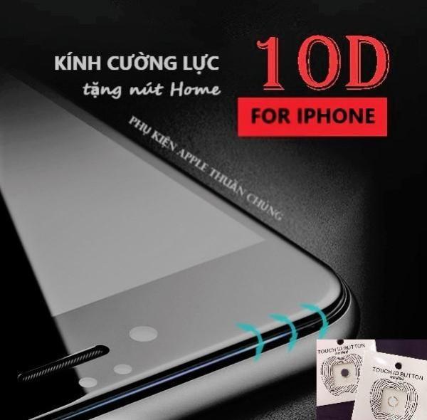 Kính cường lực 10D (Cao Cấp) full màn hình Iphone 6,6s,7,8,x,6p,6sp,7p,8p,X ( vui lòng chọn đúng dòng điện thoại + màu trong mục Lựa Chọn)