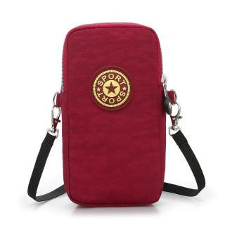 Mobile Phone Armstrap New Style Oxford Cloth Shoulder Small Bag Phone Coin Purse Double Layer Zipper Bag Mini Women s Bag Fashion thumbnail