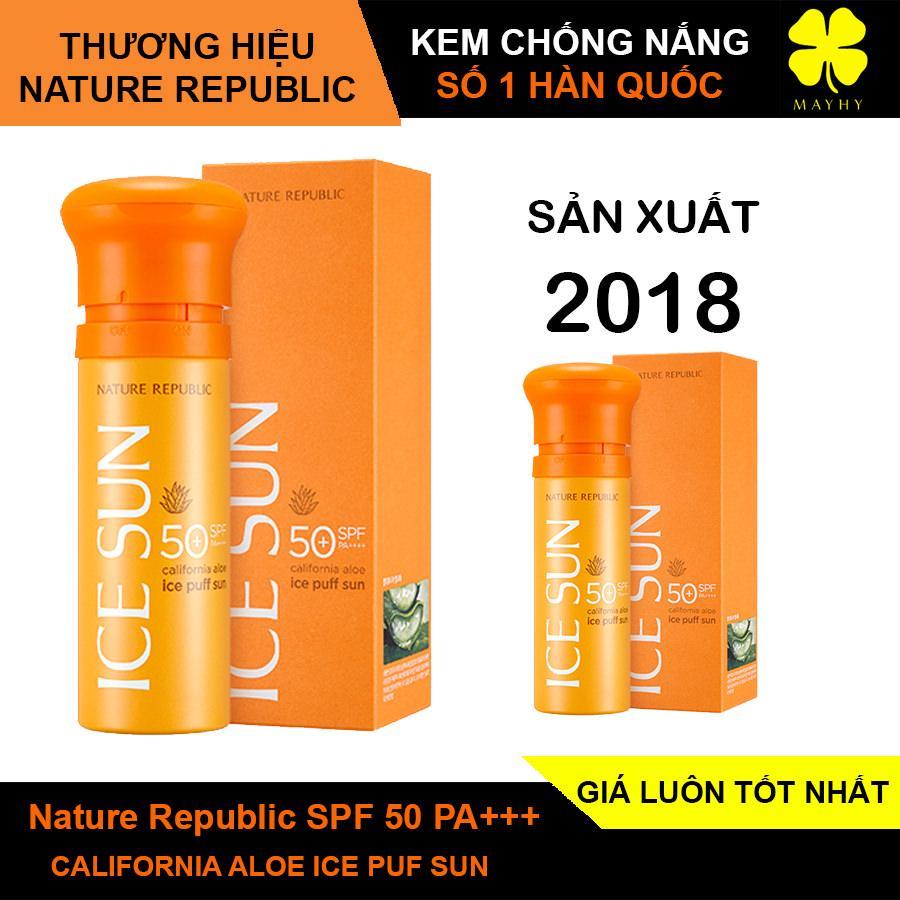 KKem chống nắng NATURE REPUBLIC ICE PUFF SUN SPF50+ PA +++ Mẫu mới 2018