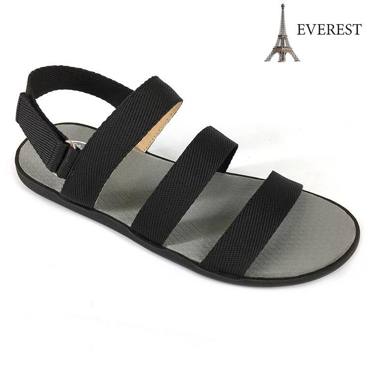 Giày Sandal 3 Quai Ngang Nam Thời Trang Everest EV12 (Đen) A253 - A252 Thời Trang Everest Có Giá Ưu Đãi