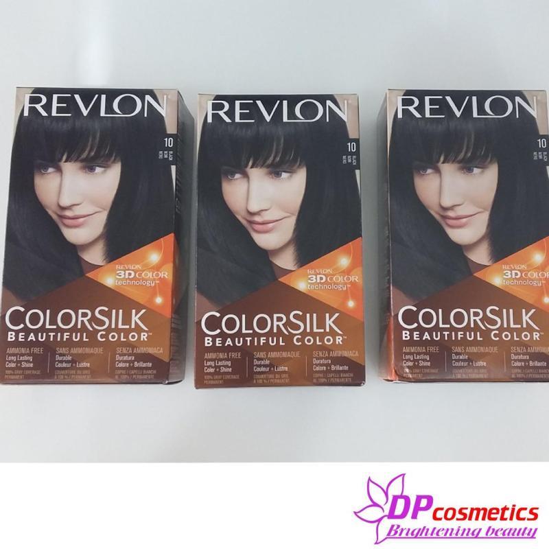Thuốc Nhuộm Tóc Revlon Colorsilk 10 - Đen nhập khẩu